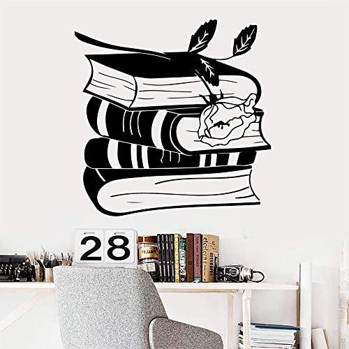 Venta De Libros De Dibujos Animados De Flores Pegatinas De Pared De Pvc Arte Mural Diy Arte De La Habitación De Los Niños Pegatinas De Decoración De Vinilo Pegatinas De Pared 42 Cm X 42 Cm