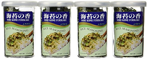 JFC Nori Fumi Furikake Rice Seasoning, 1.7-Ounce Jars (Pack of 4)