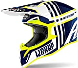 CASCO AIROH WRAAP BROKEN BLUE GLOSS M