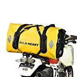 WILD HEART 防水 バッグ 55 L 77 L オートバイ ドライ ダッフル バッグ 旅行、バイク、サイクリング、ハイキング、キャンプ用 55L イェロー