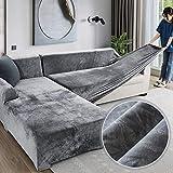 Velvet Plüsch Schonbezug Sofa