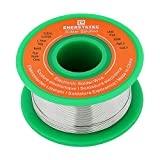 Lead Free Solder Wire Rosin Core Electrical Solder Wire Thin 0.6mm 50g Fine Solder with Flux 2.5 PB Free Sn99 Ag0.3 Cu0.7 Flow 0.11lb Electronics Soldering DIY Repair Tiny Solder