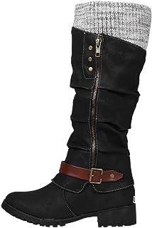 DAIFINEY Dames Winterlaarzen Hoge Laarzen Lange schacht Laarzen Enkellaarzen Bootie Slip Laarzen Sneeuwlaarzen Winterschoenen