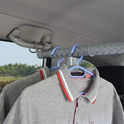 WXCCK Colgando Ampliable Ropa Coche Bar- Car Organizador del Armario Rack Asiento Portátil Fit- Rack Universal De Coche Camión De SUV