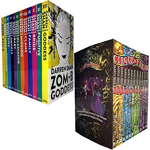 Zom-B and Cirque du Freak Series 24 Books Collection Set by Darren Shan