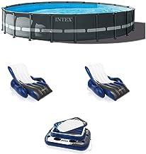 Intex 20ft x 48in Ultra XTR Round Pool, Pump, Ladder, Lounger (2 Pack), Cooler