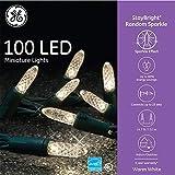 GE 100 LED StayBright Random Sparkle Miniature White Light String