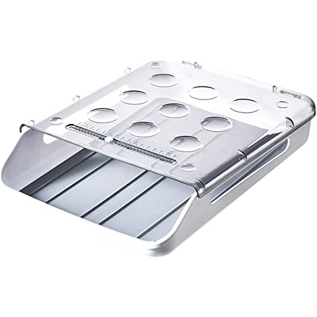 Egg Holder for Refrigerator, Household Egg Storage Container for Refrigerator, Drawer Type Automatic Sliding & Crash-proof Egg Box for Kitchen