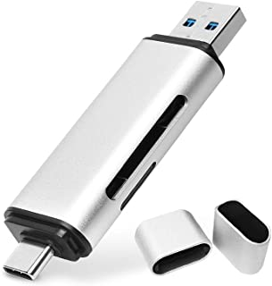 lUCKGOOD886 Lector Tarjetas de Memoria SD/Micro SD Tipo C Adaptador Micro USB OTG y Lector de Tarjetas USB 3.0 con Función OTG Samsung S10/ S9/ S8, Huawei P30/ P20/ P10/ Mate 20/10 Tabletas