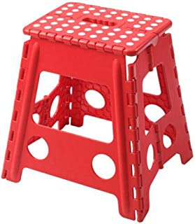 Chair 椅子 One Step Folding Plastic Stool Portable Footstool Kitchen Bathroom Toilet Caravan for Children Adult Non Slip (co...
