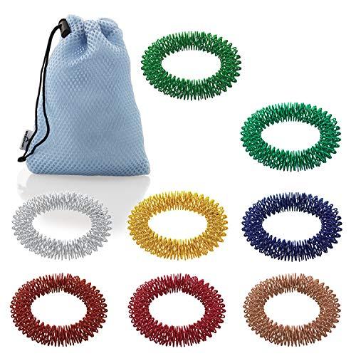 ArthroRoller TS Hand | Massageringe für das Handgelenk, Akupressurringe, Handgelenksringe zur Massage | 8 Stück in verschiedenen Farben