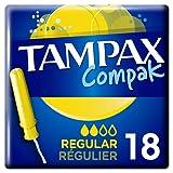 TAMPAX COMPAK TAMPONES REGULAR 18 UNIDADES