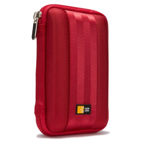 Case Logic QHDC-101 - Funda para discos duros, 85 g, Rojo, EVA