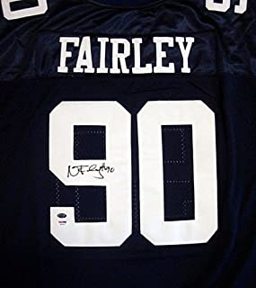 Auburn Tigers Nick Fairley Signed Blue Jersey - PSA/DNA Certified
