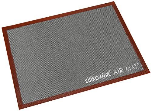 Silikomart 70.109.99.0065 Tapis Air Mat, Silicone, Rouge Brique/Noir, 40 x 30 cm
