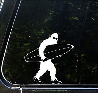 Yadda-Yadda Design Co. Surfing Sasquatch Shortboard Sunglasses - Bigfoot Yeti - Design 2 - Car Vinyl Decal Copyright (5.5