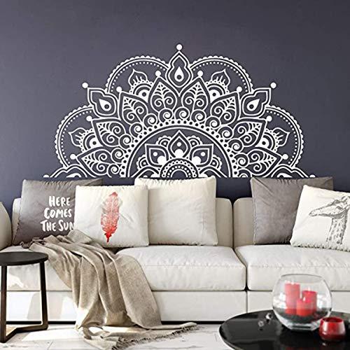 LACKINGONE Wandtattoo Mandala Wandaufkleber Wandsticker 57 * 118 cm wasserdicht für Wohnzimmer, Schlafzimmer, Badezimmer, Büro (weiß)