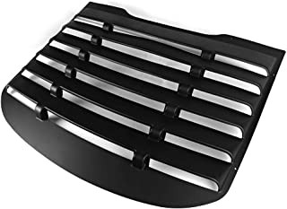 Window Louver Compatible With 2015-2020 Ford Mustang | Vintage Style Matte Black ABS Rear Window Cover Sun Shade By IKON MOTORSPORTS