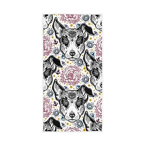 Mr.Lucien Toallas de baño de manos para perros, estilo gótico, de secado rápido, toalla de mano altamente absorbente para baño 30 x 15 pulgadas 2020084