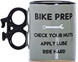 Boxer Gifts Funny 'Bike Prep' Ceramic Bike Mug | Novelty, Yet Sturdy, Bike Shaped Handle | Perfect...