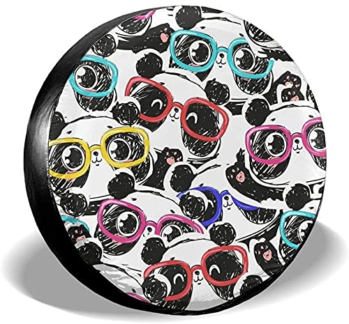 MODORSAN Panda Head - Cubierta para neumático de Repuesto,poliéster,Universal,de 15 Pulgadas,para Rueda de Repuesto,para Remolque,RV,SUV,camión,camión,Camper,Accesorios de Remolque de Viaje