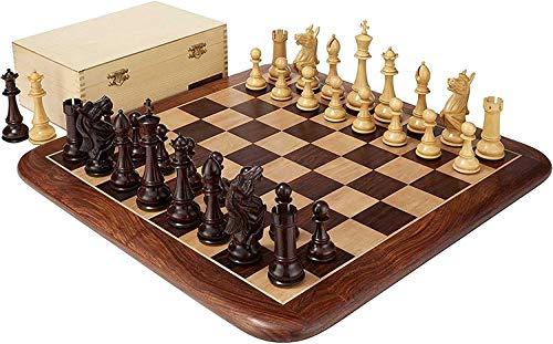 LBWARMB Ajedrez para niños Libro Caja de Almacenamiento y Juego de ajedrez de Palisandro - 6'Inteligencia de ajedrez de Altura King, Partido de Juegos de Intercambio (Entretenimiento Intelectual)