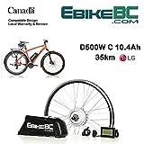 Ebike KIT 500 / 800W Vélo électrique E Bike Kit de conversion complet Moteur de moyeu avant, batterie Li-Ion 40 km / h LCD