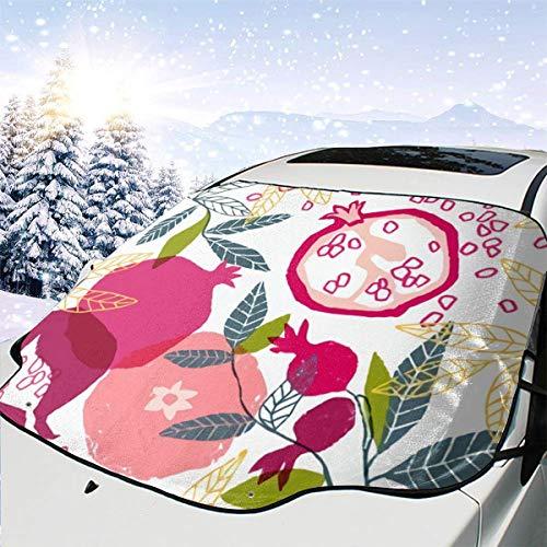 remmber me Handgemalte Floral Poster Granatapfel Automotive Windschutzscheibe Schneedecken 57,9 X 46,5 Zoll für Jeep Trucks Suvs Mpvs Hält EIS & Schnee aus