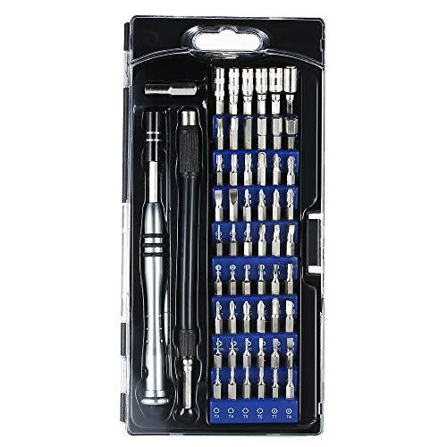 Juego de destornilladores de precisión profesional, kit de herramientas de reparación LZHui 57 en 1, adecuado para iPhone, computadora portátil, teléfono inteligente, MacBook, reloj, gafas