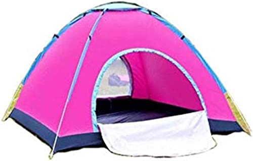 DSRC Tente extérieure Tente de Camping en Plein air, Camping Double complèteHommest épais et Anti-Pluie, Camping Familial Sauvage, moustiquaire familiale, Convient à 3 à 4 Personnes, lit 6,57 pi, Rouge