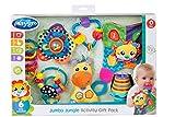 Playgro Set de Regalo con Actividades Jumbo Jungle, Juguetes para bebés, 24 piezas, Desde 0 meses, Libre de BPA, Multicolor, 40209