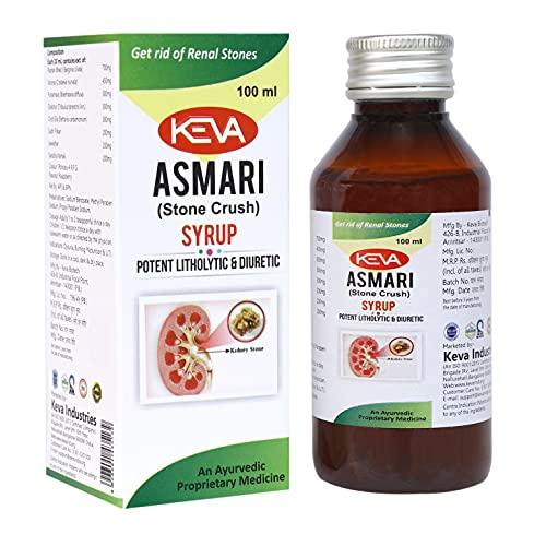 Keva Asmari (Stone Crush) Syrup - An Ayurvedic, Herbal, Powerful & Safe Formulation (Pack of 6) (6X100 ml)