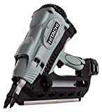Hitachi NR90GC2 Cordless Gas Clipped Head 1st Fix Framing Nailer (2 x 1.5AH li-ion Batteries), 7.2 V, Grey/Black, 50-90mm