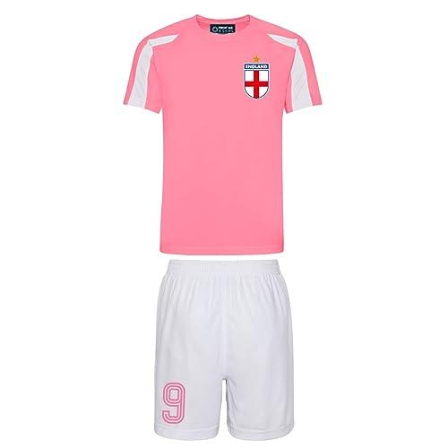 92d93821259 Printmeashirt Kids Personalised England Style Football Shirt and Shorts