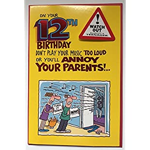 On Your 12th Birthday , (Humour) Birthday Greetings Card