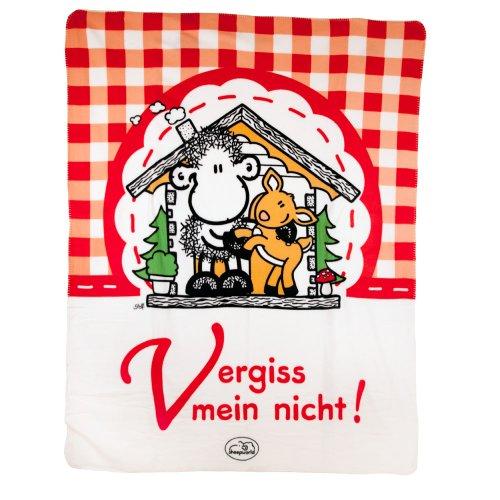 Sheepworld 41952 Fleecedecke Vergiss Mein Nicht!