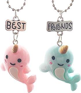 Lovelegis Due Collane da Bambina - Amicizia - Best Friends - Migliori Amiche per 2 - Kawaii X 2 - BFF - Coppia - Delfini -...
