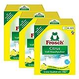 3 confezioni di detersivo Frosch Citrus, in polvere, 1,35 kg - elimina le macchie, con limone