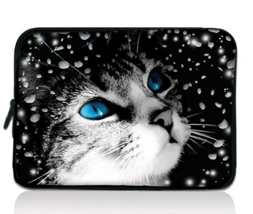 "Katze 13-Zoll-13.3"" Universal Laptop staubdicht Notebook Wasserdichte Hülle Tasche Fall Abdeckung für 13"" 13.1"" Zoll Samsung Serie 5 Ultrabook 9 / Sony Vaio Duo / Apple MacBook Pro / Acer Aspire S3 S5 S7, Dell HP Folio Tablet / Laptop Android Tablet PC"