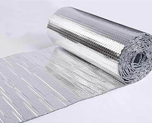 Pet Homes Insulation Foil Garages Double Aluminium Bubble Foil Insulation Radiator Heat Reflective Reflector Save Energy For Attics, Lofts, Floors, Sheds, Caravans, Boats, Greenhouses Self-adhesive