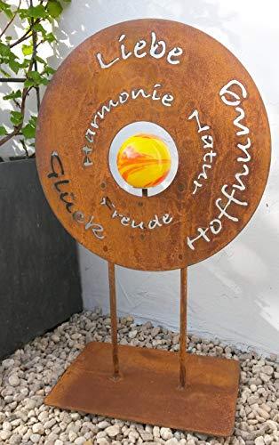 Scheu Edelrost Gartenschild Liebe Glück Metall Spruchtafel Deko Garten Gedichttafel