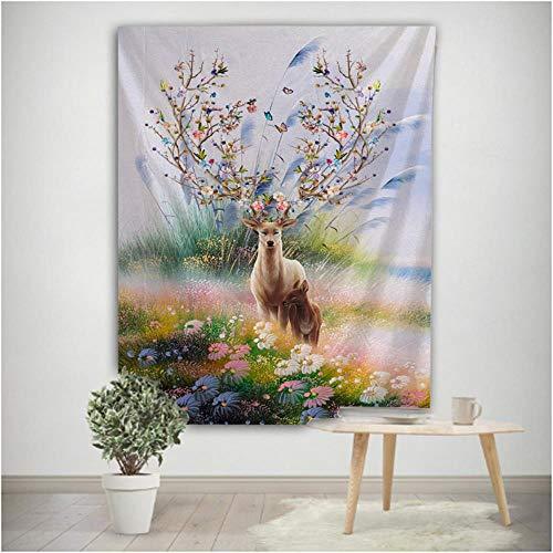 Tapiz de alce para colgar en la pared, playa, pícnic, tienda de campaña para dormir, decoración del hogar, colcha, sábana, paño de pared