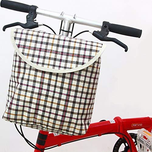 SXFYHXY Cesta Bicicleta Delantera Desmontable Plegable para Bicicletas Bolsa De Transporte De Mascotas con Marco De Cesta Bici Bolsa De Compras Ecológica