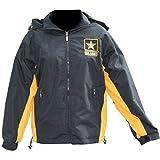 Mitchell Proffitt Men's US Army Windbreaker Jacket M Black & Gold