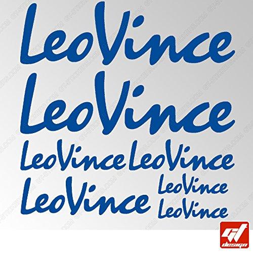 Brett 7Aufkleber LeoVince, Leo Vince–Blau Traffic–Sticker, selbstklebend, Motorrad, Bike, Kit, Deco, Tuning, Decal, gt-design, GT Design, gtdesign