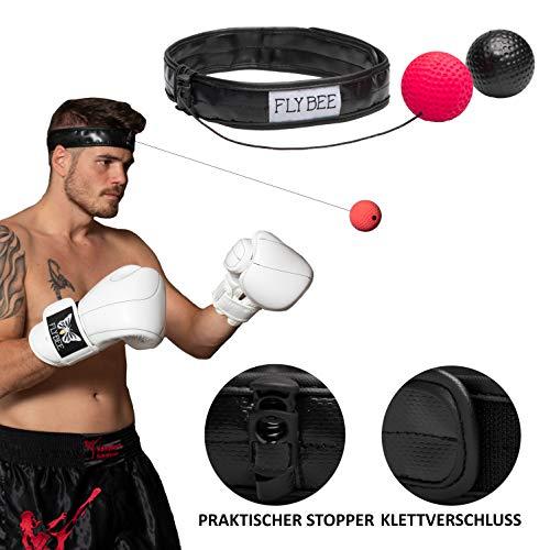 Boxen Training Reflex Fightball Punchball Headgear + 2 Bälle (2 Balls Included)