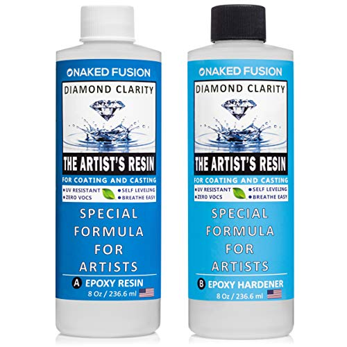 Epoxy Resin Art Resin Crystal Clear Formula - The Artist's Resin for Coating, Casting, Resin Art, Geodes, River Tables, Resin Jewelry- Non-Toxic -16 Oz Kit