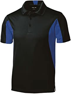 1b28d58d Joe's USA Men's Moisture Wicking Side Blocked Micropique Polo's- Regular,  ...