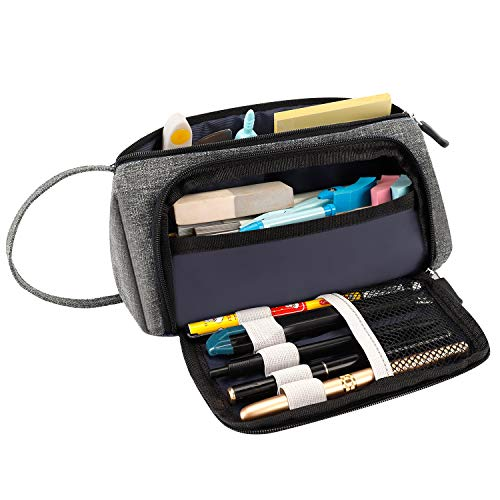 RAGZAN Pencil Case Large Capacity Pen Pouch, Simple Stationery Bag...