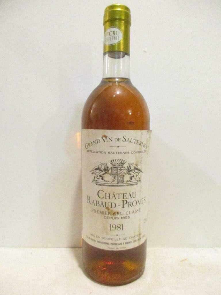 sauternes château rabaud promis grand cru classé liquoreux 1981 - bordeaux